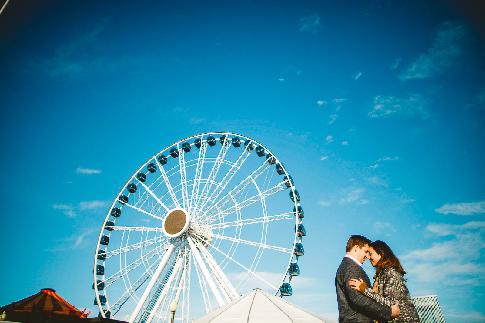 17 amazing engagement photos at navy pier - Navy Pier Engagement Session // Tyler + Jing