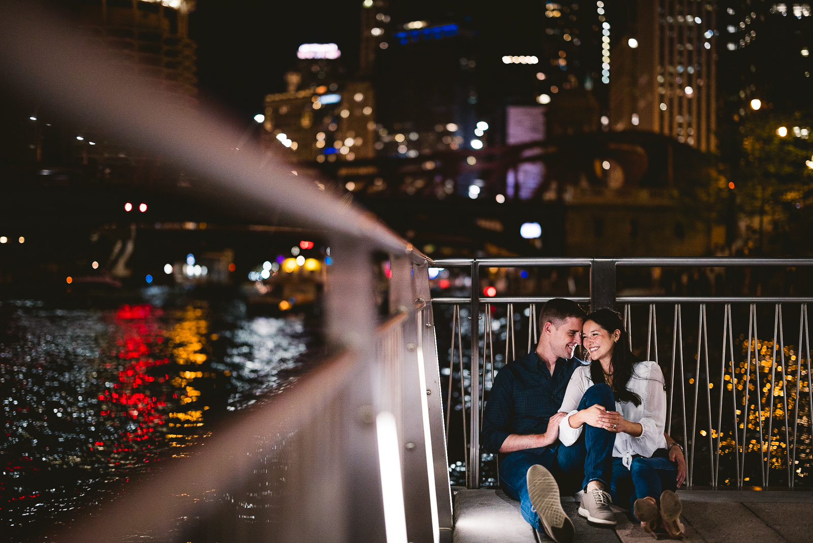 04 night engagement photos in chicago - Alex + Jim // Sunset Engagement Session