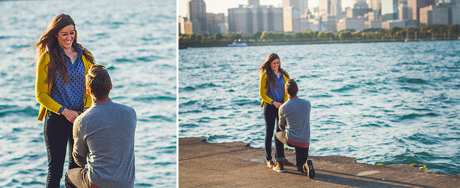 05 chicago surprise proposal photo Andrew + Nicole >< Surprise Proposal Chicago Planetarium