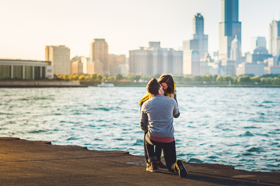 06 chicago lakefront she said yes Andrew + Nicole >< Surprise Proposal Chicago Planetarium