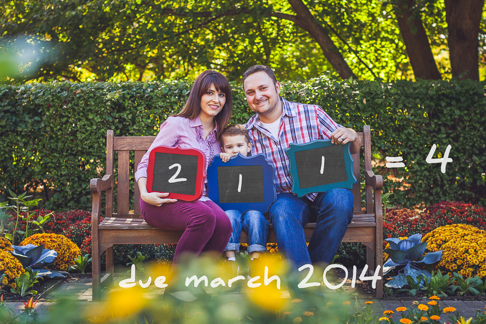 We're Pregnant >< Baby Announcement in Cantigny Park