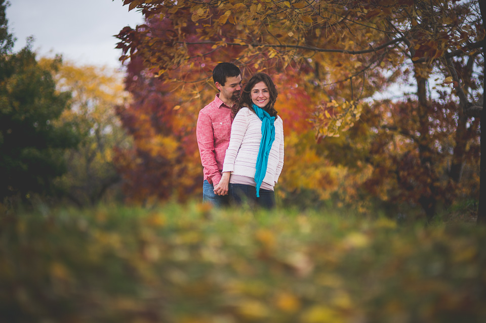 Fall Engagement Photos in Chicago // Mandy + Brian