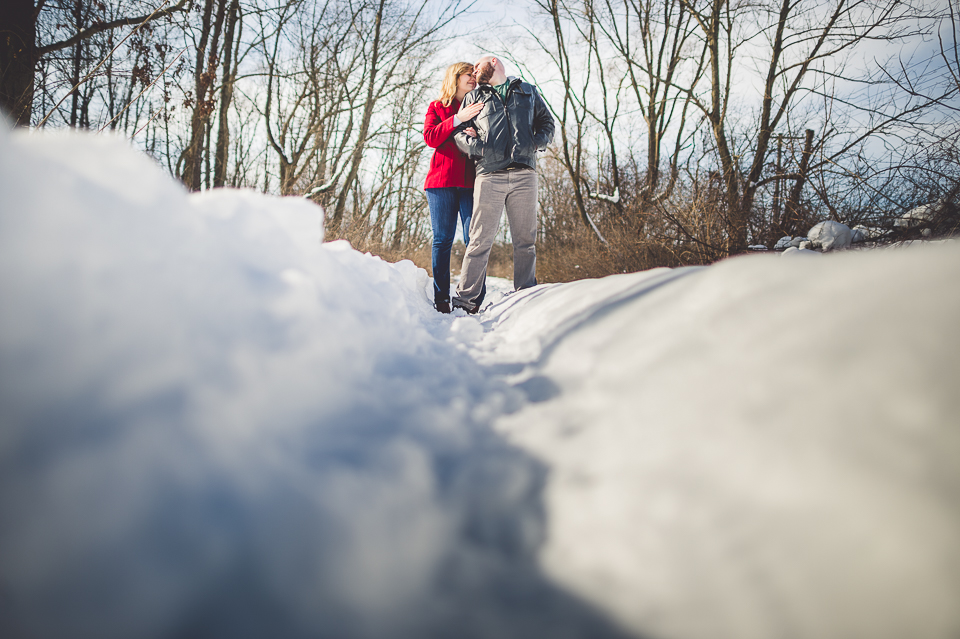 Winter Engagement Photos in Waterfall Glen // Gintare + AJ