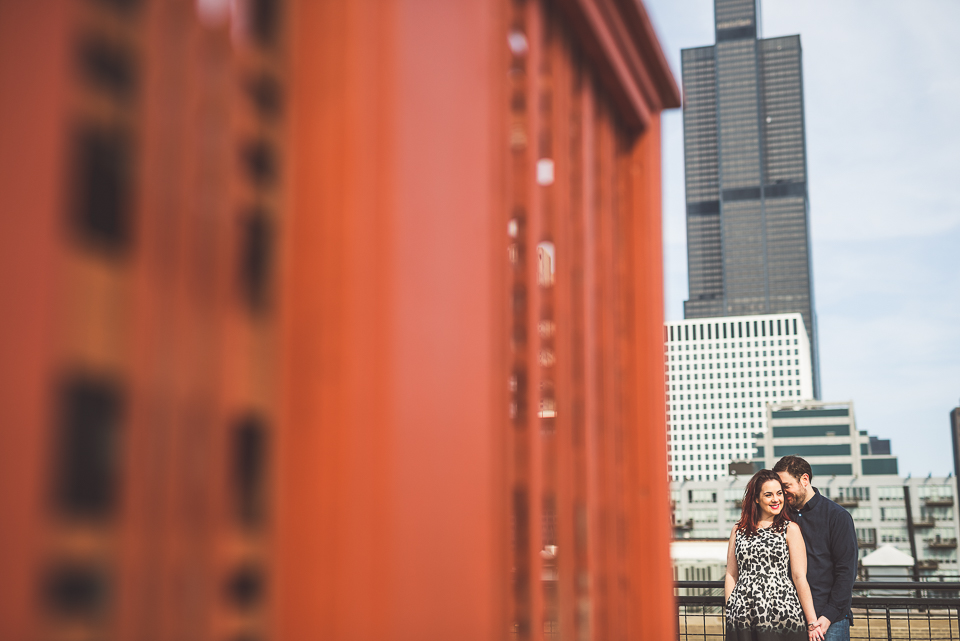 Downtown Chicago Engagement Photos // Rachael + George