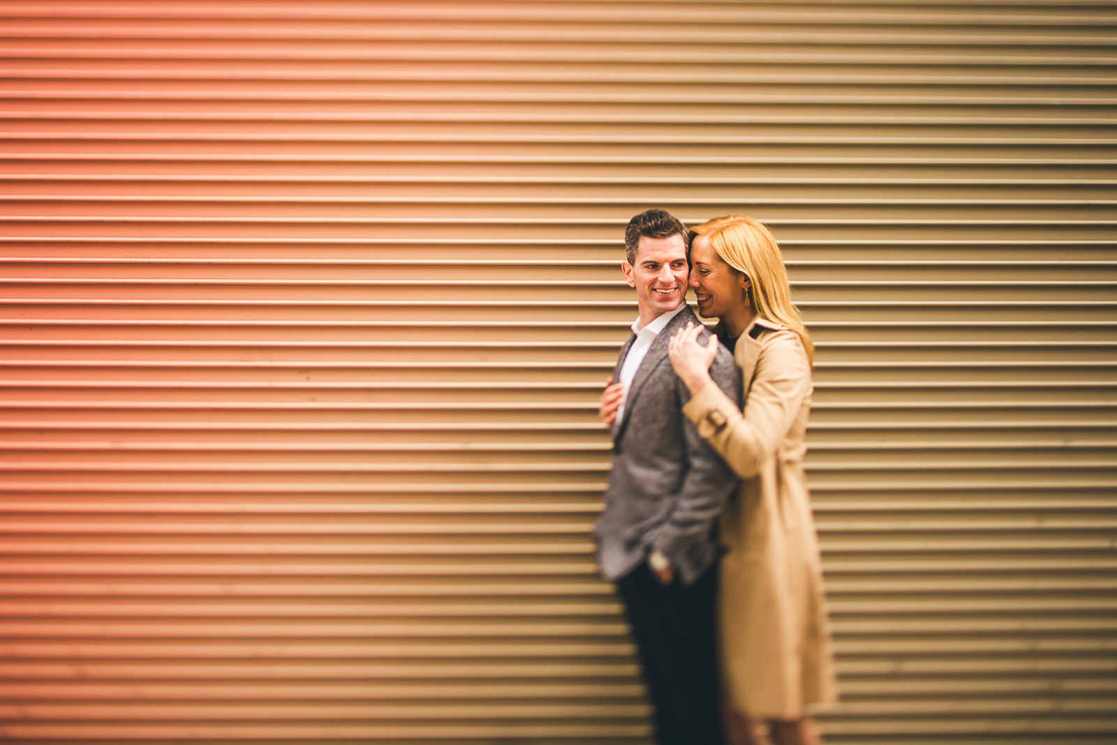 Megan + Bob // Chicago River North Engagement Session at Shaws Crab House