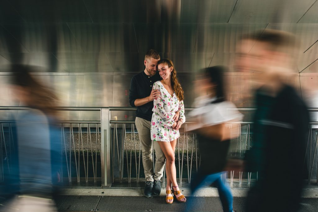 Chicago Engagement Session with Cindy + Scott