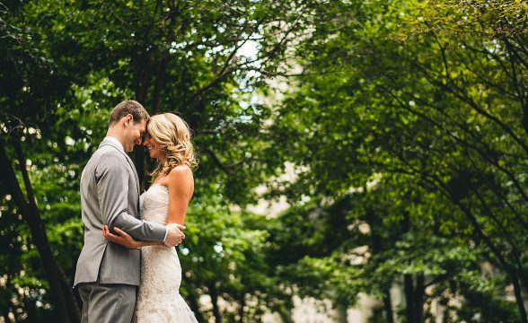 29 chicago wedding photos 588x360 - Audrey + Jake's Beautiful Chicago Wedding at Chez