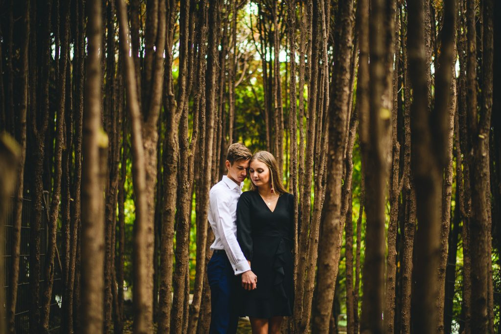 Chicago Fall Engagement Photos // Marta + Kevin